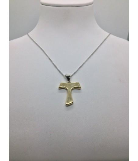 Ciondolo Croce Tao Oro