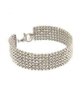 Bracciale in argento maglia diamantata
