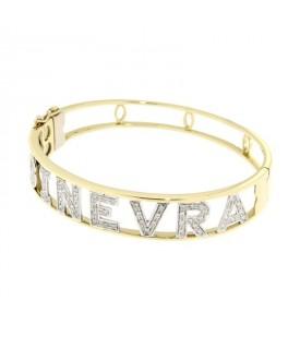 miglior posto per cercare grande vendita Bracciale in oro e brillanti con nome – Gioielli con ...