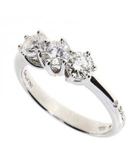 Anello Trilogy con Diamanti 0,42 ct