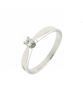 Anello Solitario Diamante 0,10 ct