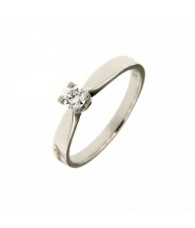 Anello Solitario Diamante 0,18 ct