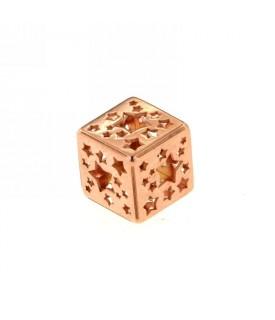 Ciondolo cubo Oro rosa