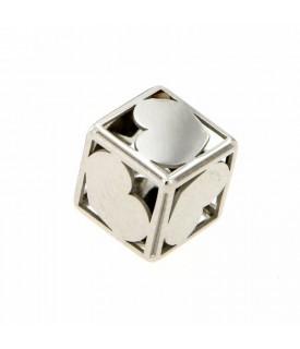 Ciondolo cubo Oro bianco