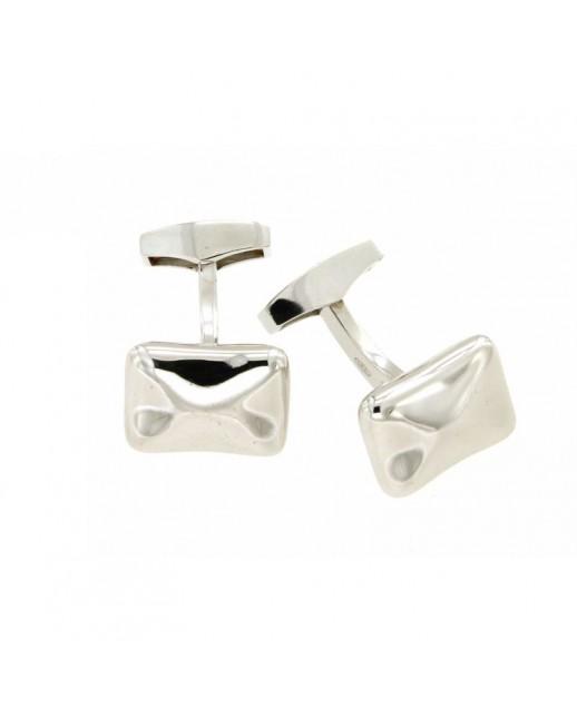 Gemelli in argento rettalgolari