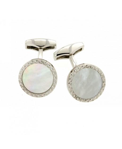 Gemelli in argento con madreperla