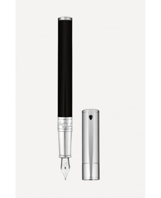 D-Initial penna stilografica Duo Tone Nera e Cromata