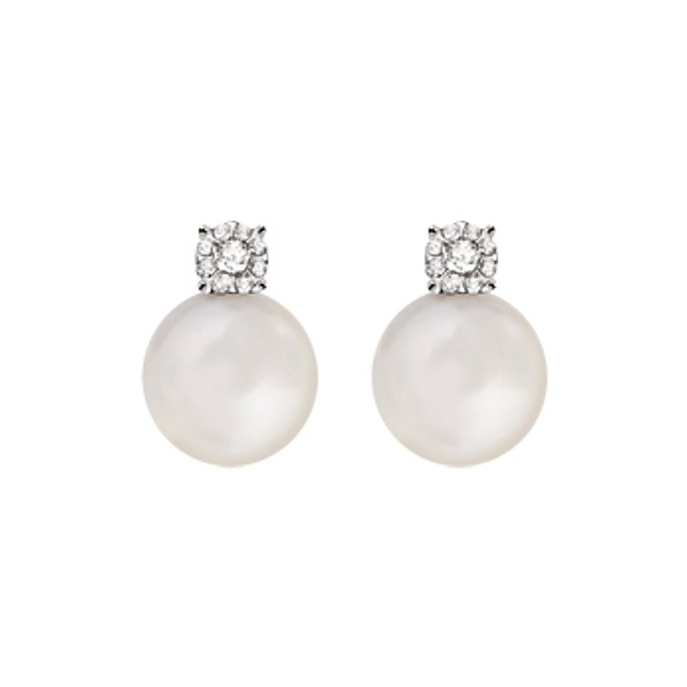 Orecchini Perle e Diamanti 0,06 ct