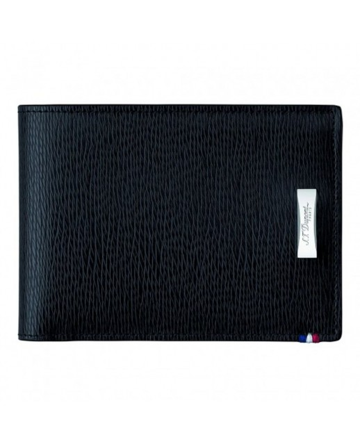 D-Line portafoglio nero in pelle a grana