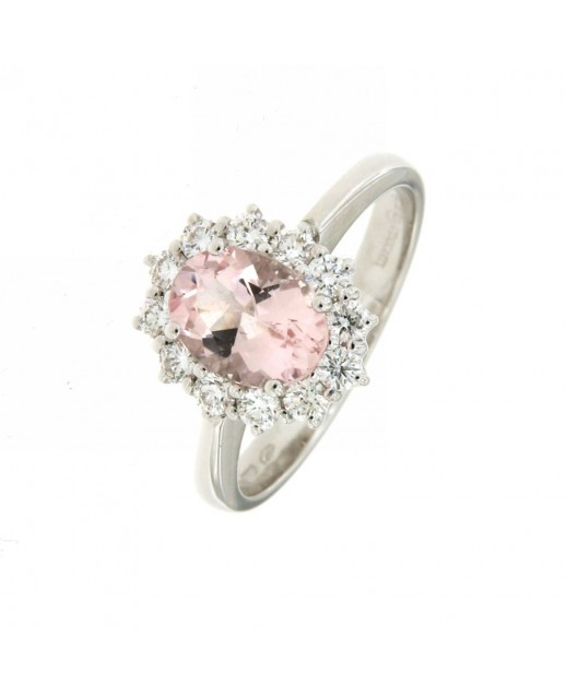 Anello con Morganite 5,00 ct e Diamanti 0,48 ct