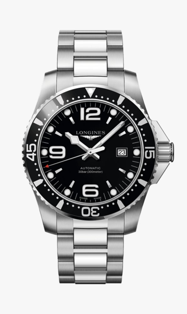 Hydroconquest auto nero 44mm