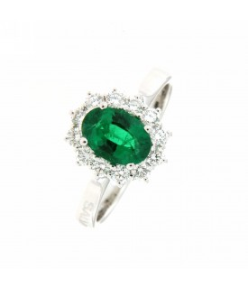 Anello diamanti 0,50 ct e...