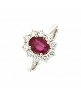 Anello diamanti 0,68 ct e...