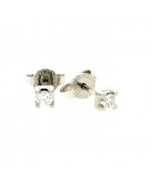 Orecchini in Oro con Diamanti 0,16 ct