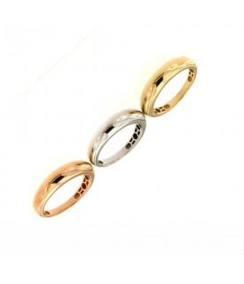 Anello nei 3 colori dell'oro