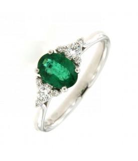Anello con smeraldo 0,76ct...