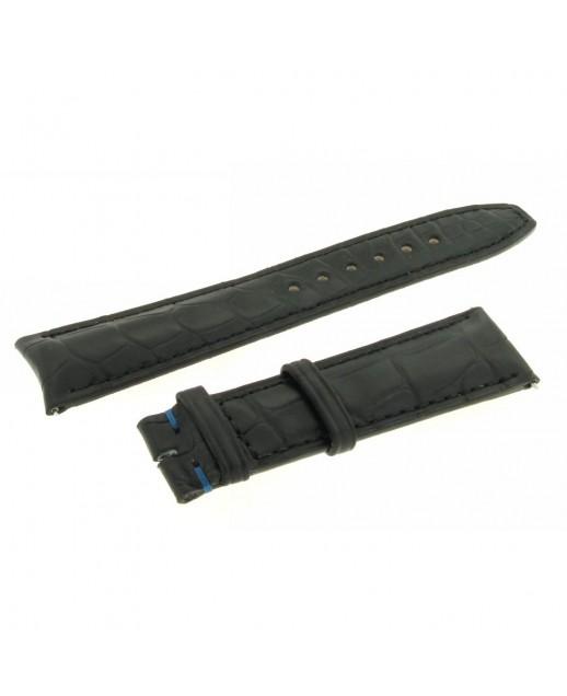 Cinturino nero 20mm alligatore