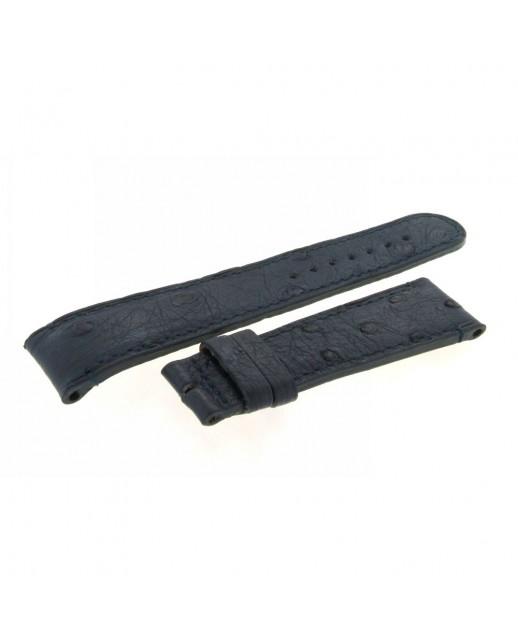 Cinturino blu Struzzo Aiglon Grande Taille 20mm