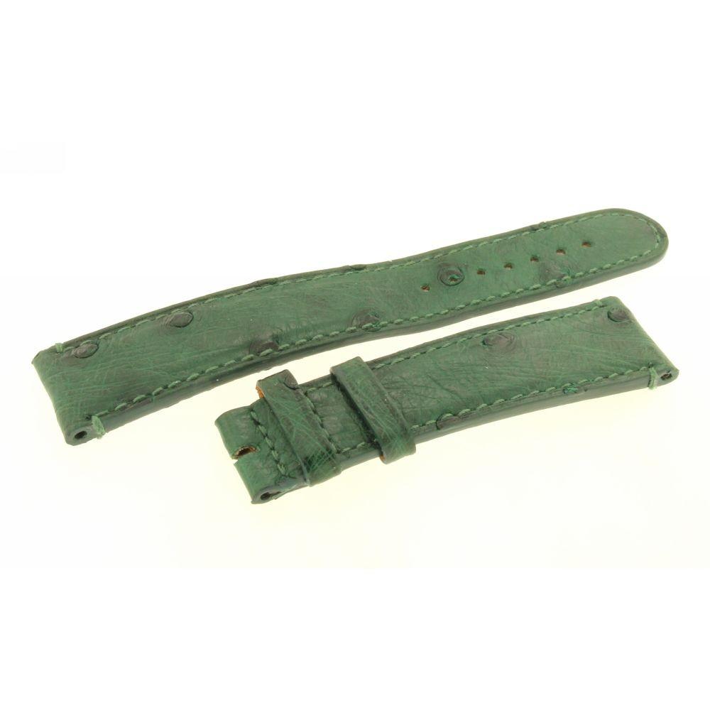 Cinturino verde Struzzo Aiglon Grande Taille 20mm