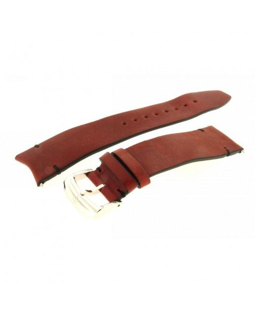 Cinturino rosso Vitello Clifton Club Indian Nero 22mm