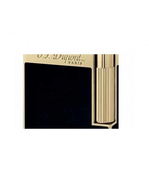 Line 2 accendino oro giallo lacca nera S.T. Dupont 078cd041fc2