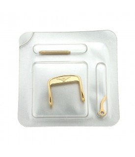 Gold laminated buckle...