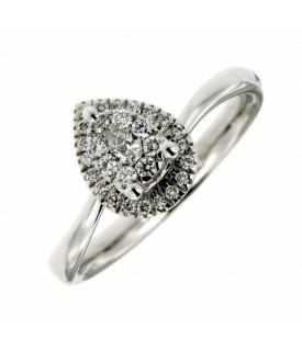 Anello Diamanti 0,05 e 0,21 ct