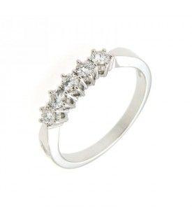 Anello Vera con n. 05 diamanti 0,41 ct