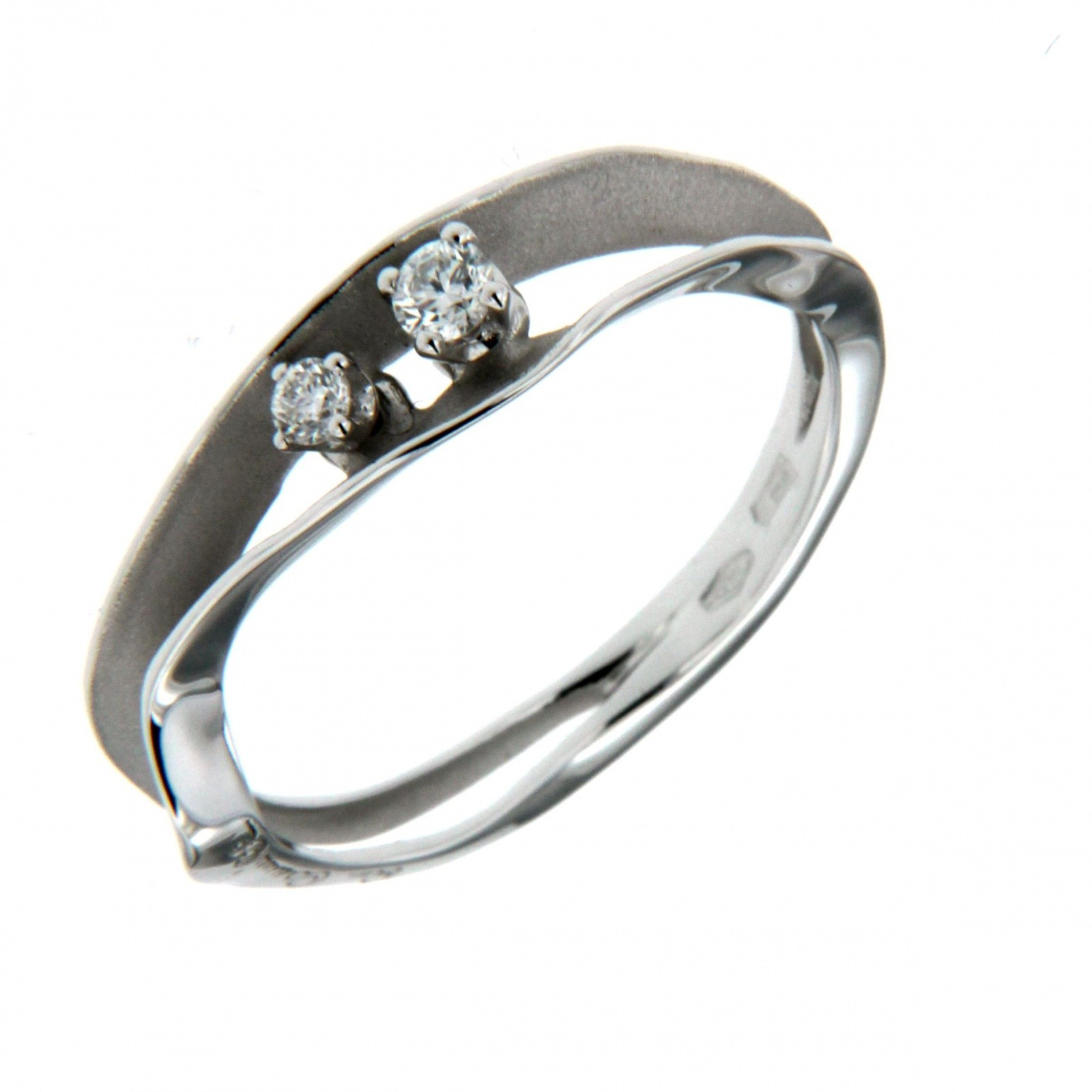 Anello Dune con Diamanti 0,10 ct