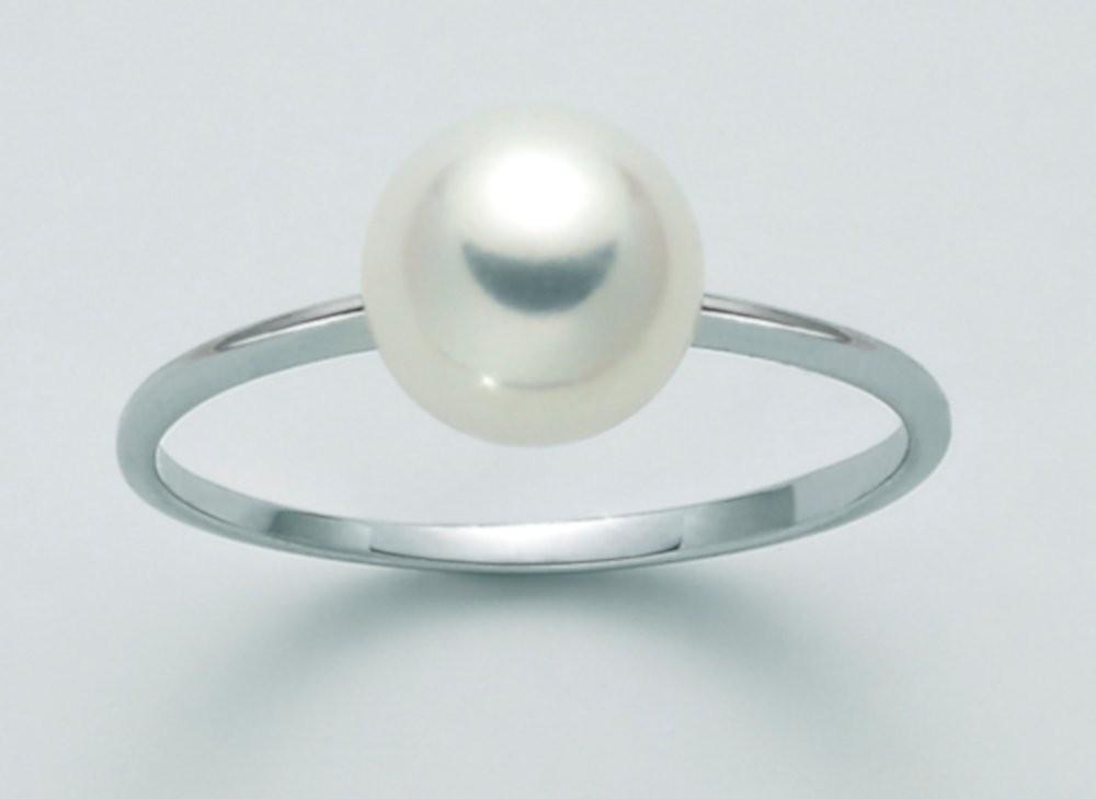 Anello con Perla 7,5/8 mm