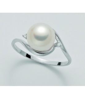 Anello con Perla 8,5/9 mm e...