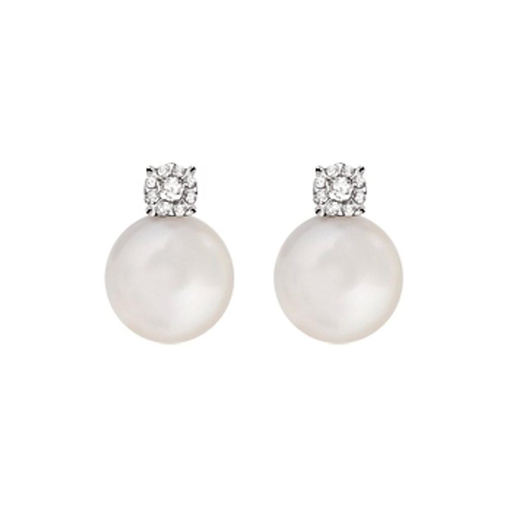 Orecchini Perle e Diamanti 0,06 ct