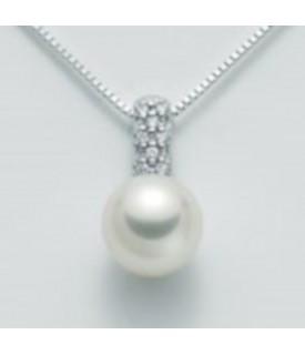 Collana con perla 8,5/9 e...