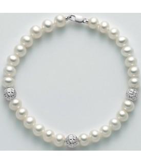 Bracciale perle 6/6,5 mm