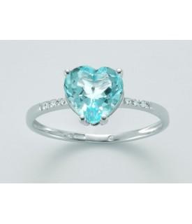 Anello Topazio e diamanti...