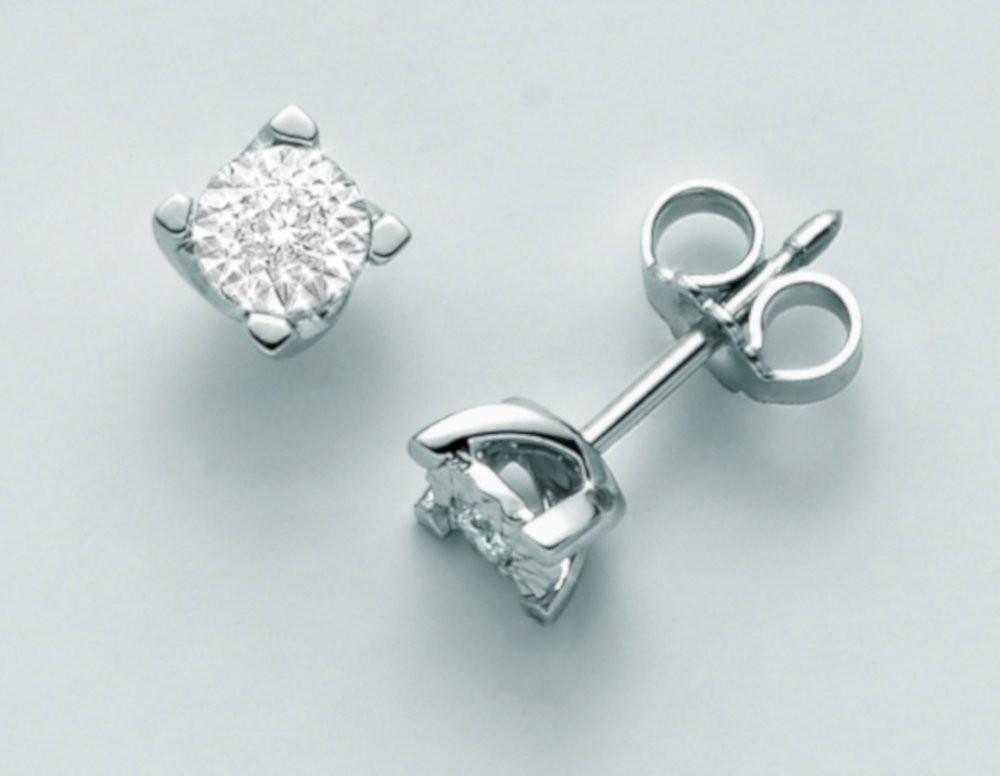 Orecchini diamanti 0,10 ct