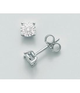 Orecchini diamanti 0,02 ct