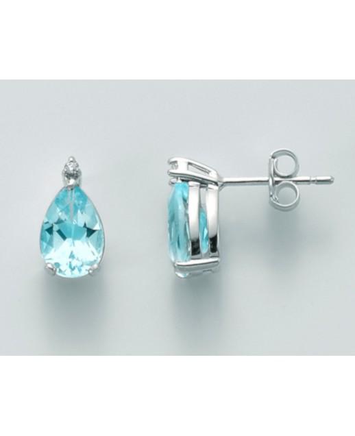 Orecchini Topazio e diamanti 0,014 ct