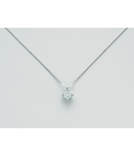 Collana con diamanti 0,054 ct