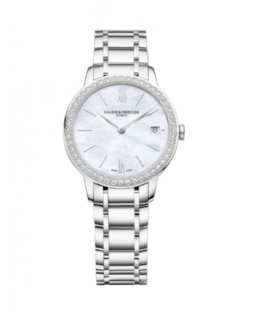 Classima Quarzo 31 mm Madreperla e diamanti 0,24 ct