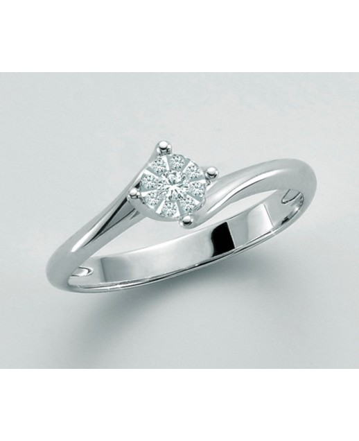 Anello con diamanti 0,054 ct