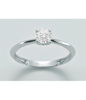Anello con diamante 0,03 ct