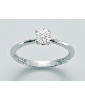 Anello con diamante 0,03 ct