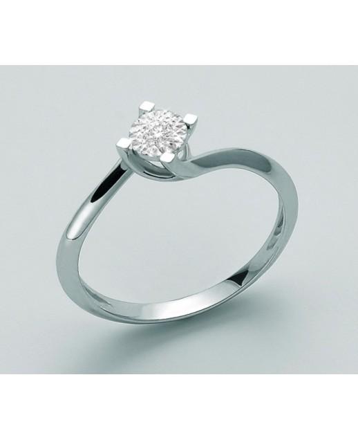 Anello con diamante 0,05 ct