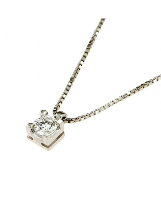 Collana con diamante 0,32 ct