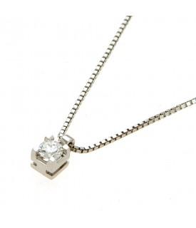 Collana con diamante 0,19 ct