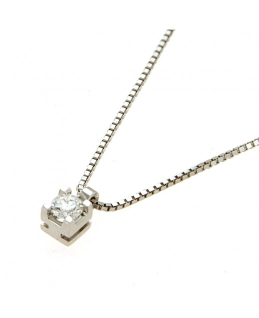 Collana con diamante 0,19 ct