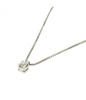 Collana con diamante 0,15 ct