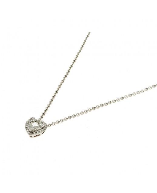 Collana in oro bianco con diamanti 0,35 ct