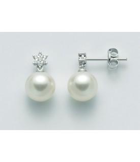 Orecchini con perle 7,5/8 e...
